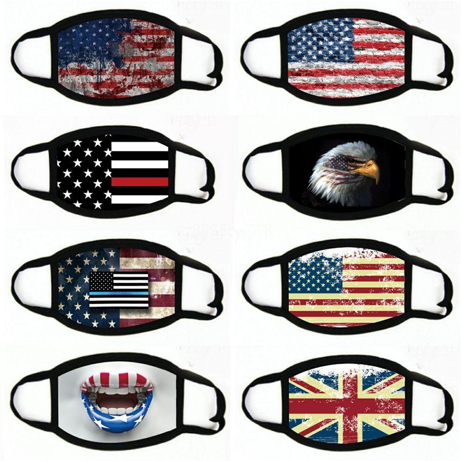 Çok Amaçlı tozluk için Unisex Amerikan Bayrağı Sport Kafa Güneş Koruyucu Maske Açık Bisiklet # 804 İçin