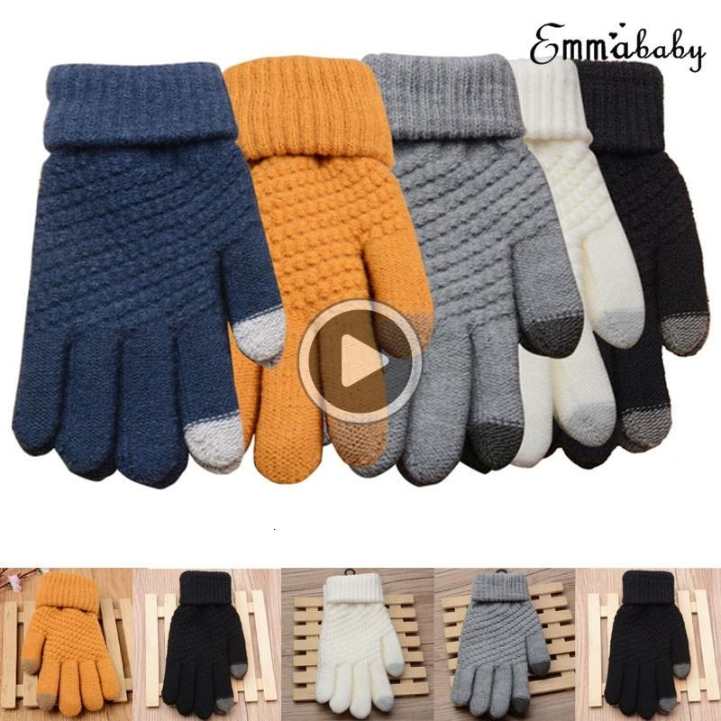 Hot Womens Mens Touch Screen Wool Winter Gloves Warm Smartphone Shining fashion Comfortable Mobile Phone
