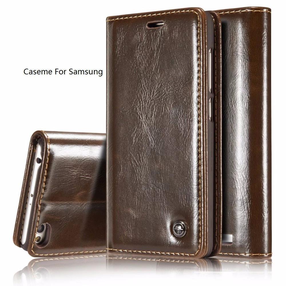 CaseMe Smooth Retro Portafoglio in pelle caso della copertura per Samsung S10 5G all'e S9 S8 Inoltre A9 A7 A8 M30 A30 A50 2018