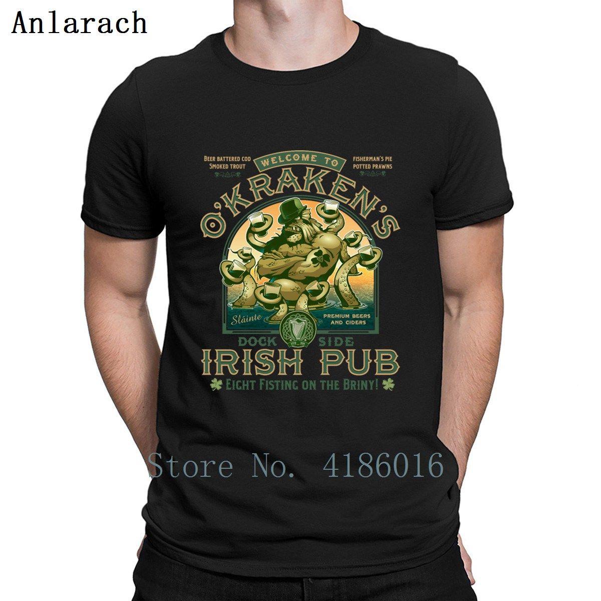 Okrakens Pub maglietta Irish Primavera Autunno vintage lavorato a maglia Big Size S-5XL Base Pazzo camicia fredda Cotone