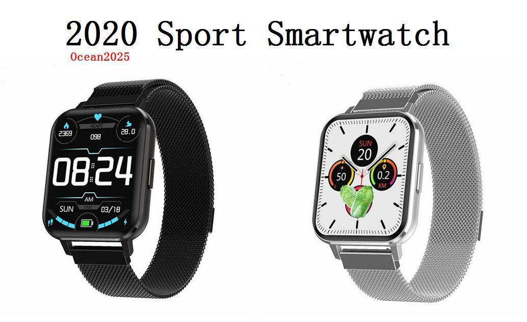 2020 Спорт Смарт Часы артериального давления Heart Rate Tracker Браслет для женщин Мужчины Релох Интеллектуального с розничной коробкой
