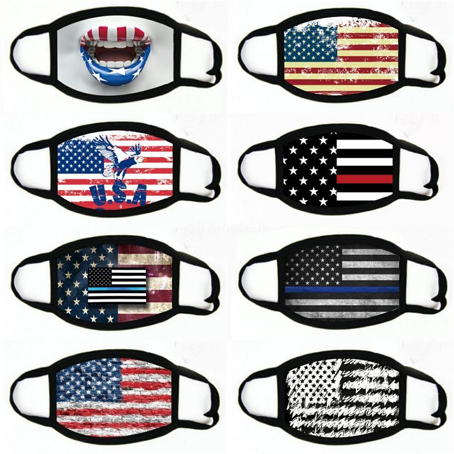 Die amerikanische Nationalflagge Gesichtsmaske Angeln Radfahren Multifunktions-Outdoor Sport Gamasche Gesicht Abdeckung Bandanas für Männer Frauen # 998