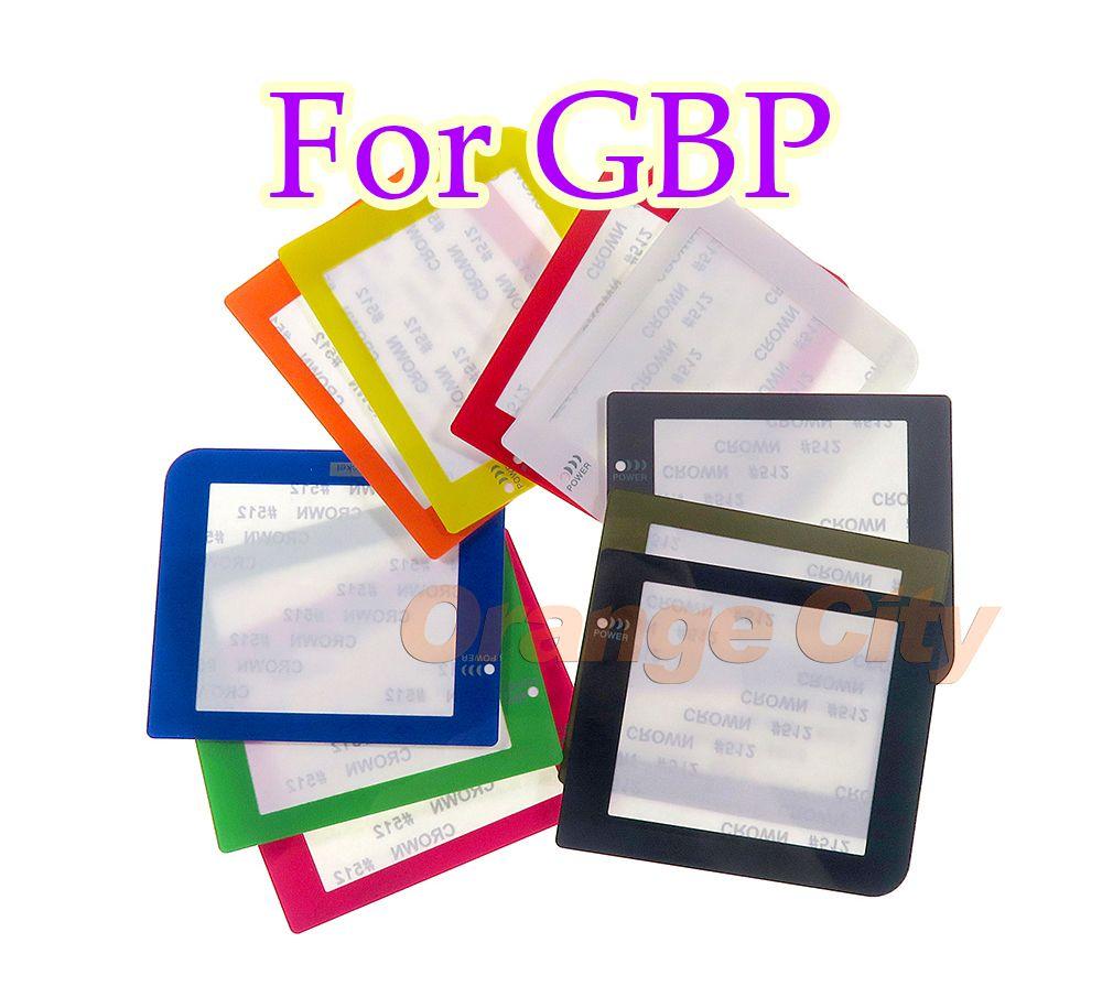 une nouvelle couverture cas protecteur shell écran pour objectif poche GameBoy d'origine GBP remplacement par logo
