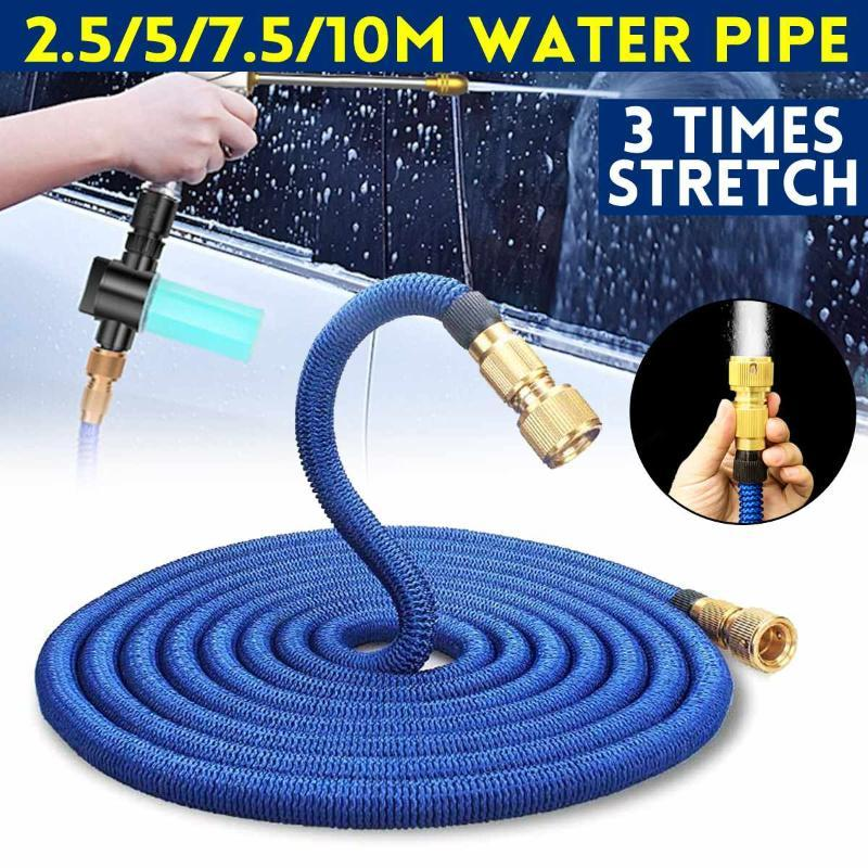 25FT-100FT Garden Hose Water Expandable Watering Hose High Pressure Car Wash Expandable Garden Magic Pipe