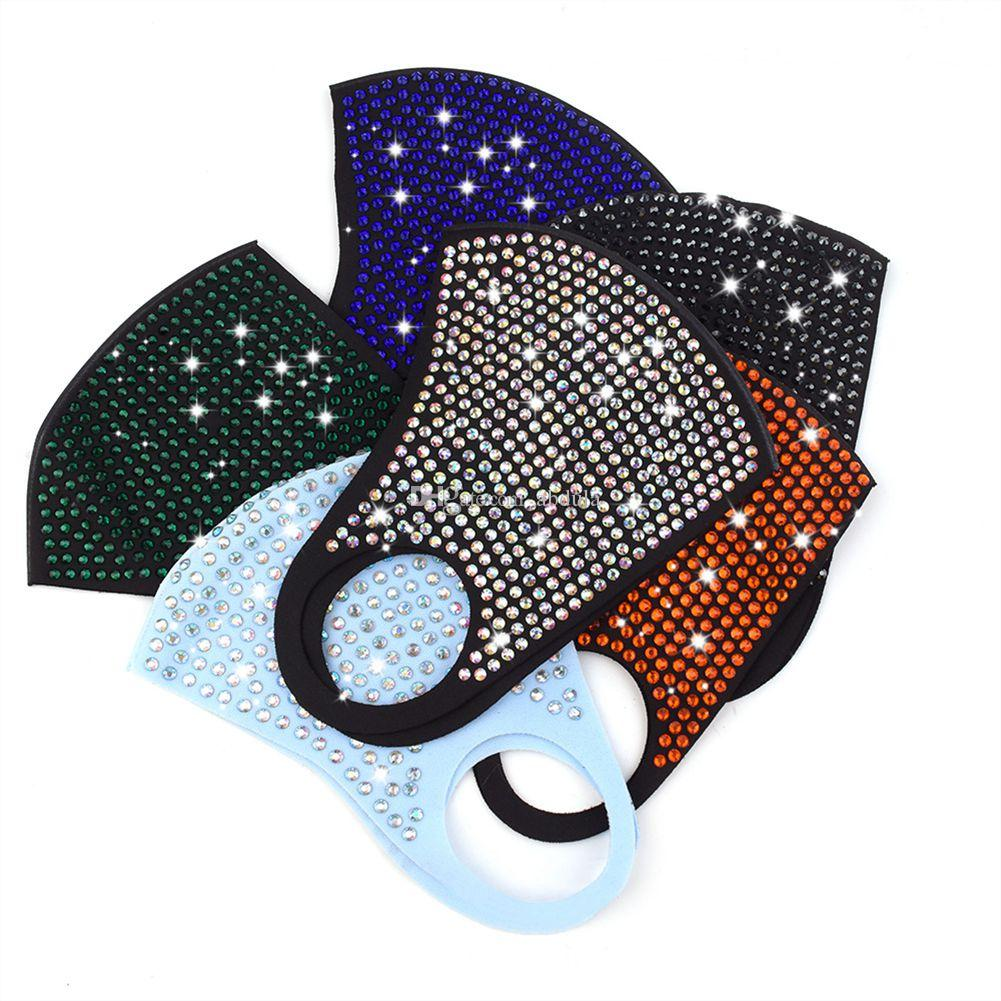 120pcs Sequin Bling Designer Mask DHL Shipping Bling Bling Sequins Protective Mask PM2.5 Dustproof Mouth Cover Rhinestone Face Mask For Sale