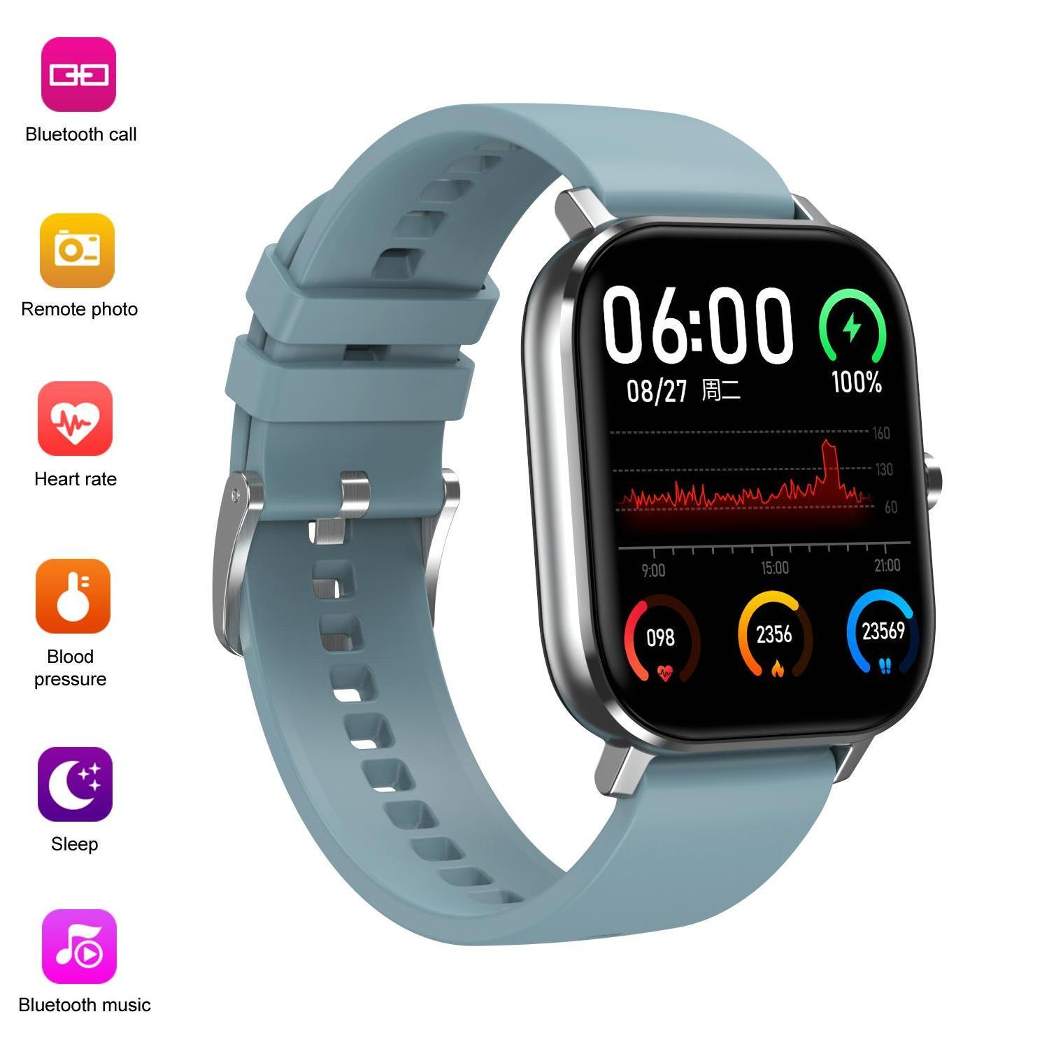 Bluetooth Call Smartwatch Boold Pressure Smartband Heart Rate Fitness Tracker Bracelet Men Women Smart Watch For Iphone & Android Smartphone