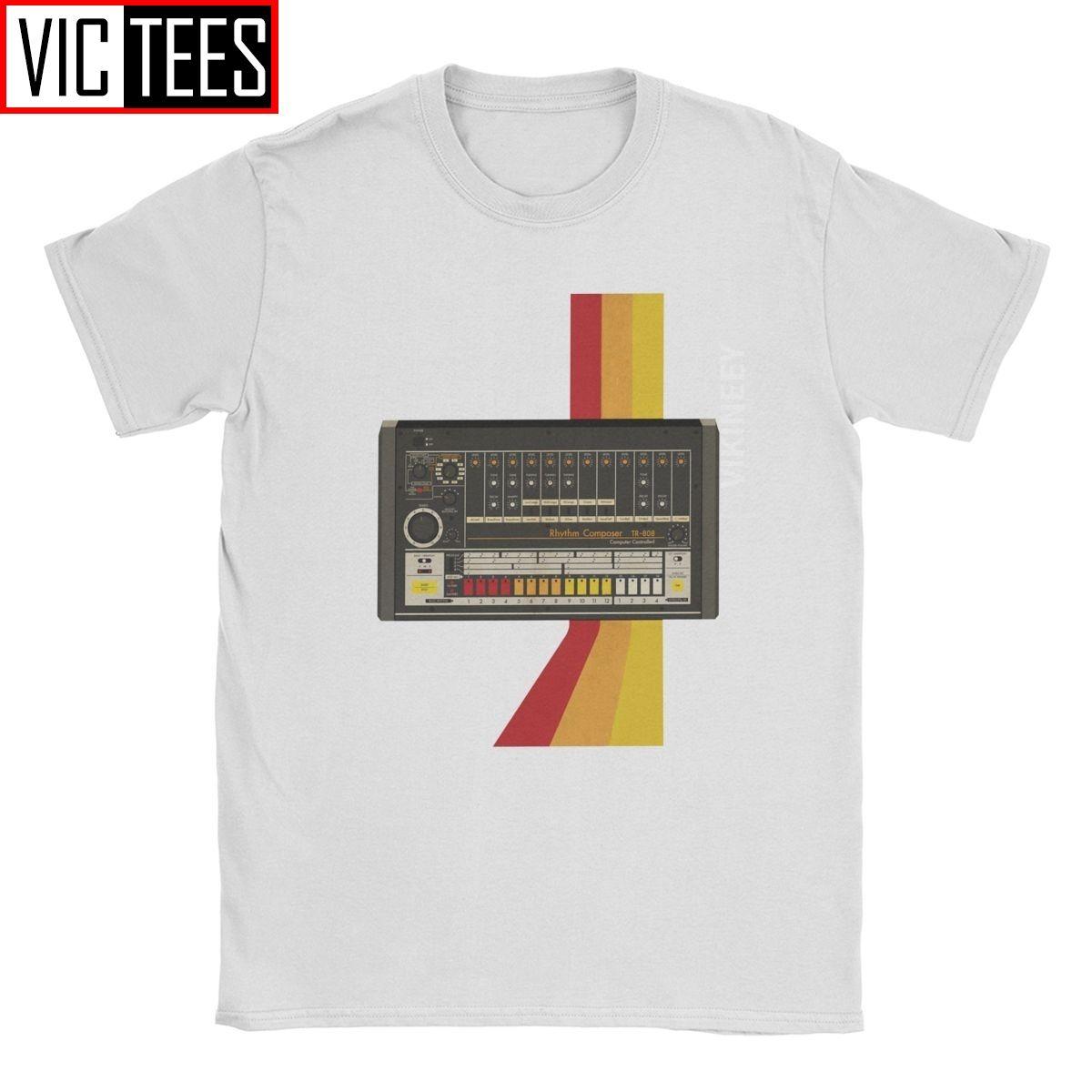 TR-808 Korg Volca camiseta de los hombres sintetizador de música de sintetizador modular Electro Techno 100 por ciento de algodón de cuello redondo Camiseta