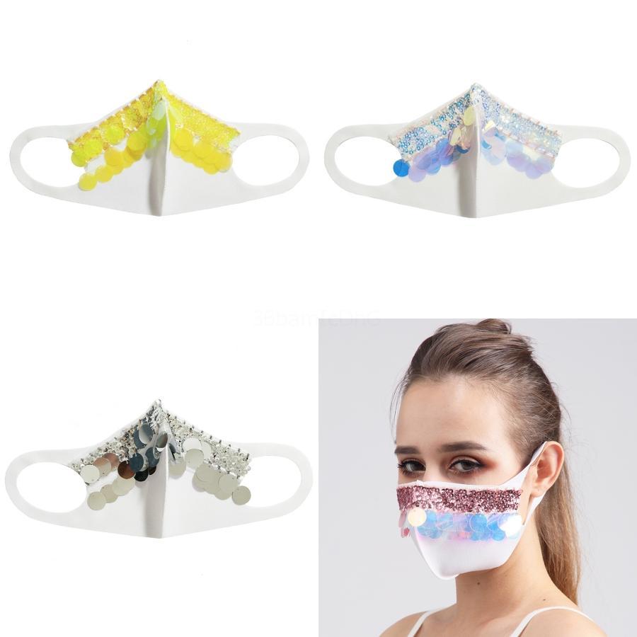 2020 New Gold Silber Pailletten Masken Erwachsene Mann Kostümball-Masken Halloween-Tanzparty-Kleid-Dekoration # 301