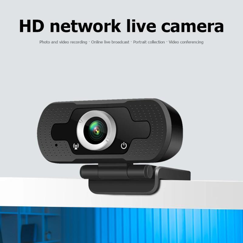 Широкоэкранный Видео Работа Главная Аксессуары HD 1080P Webcam Free Drive USB Mini компьютер PC Веб-камера Встроенный микрофон