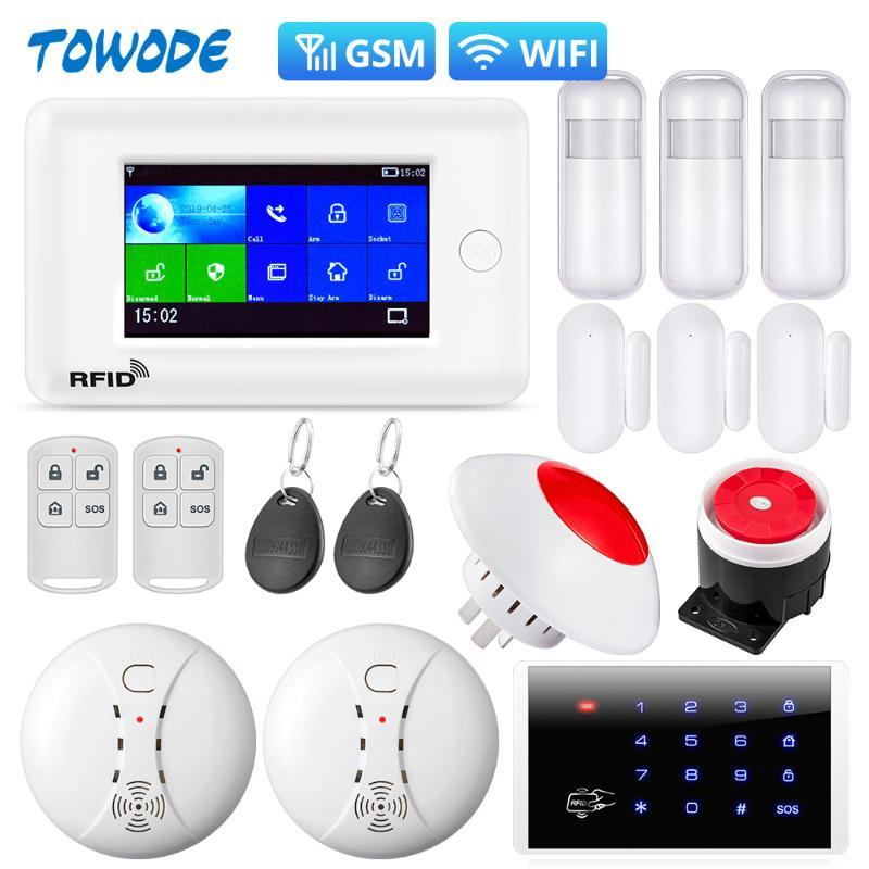 Alarm Towode Smart Home PG106 Система безопасности WIFI защиты от угона системы 4,3-дюймовый цветной экран APP Пульт дистанционного управления ИК-датчик движения