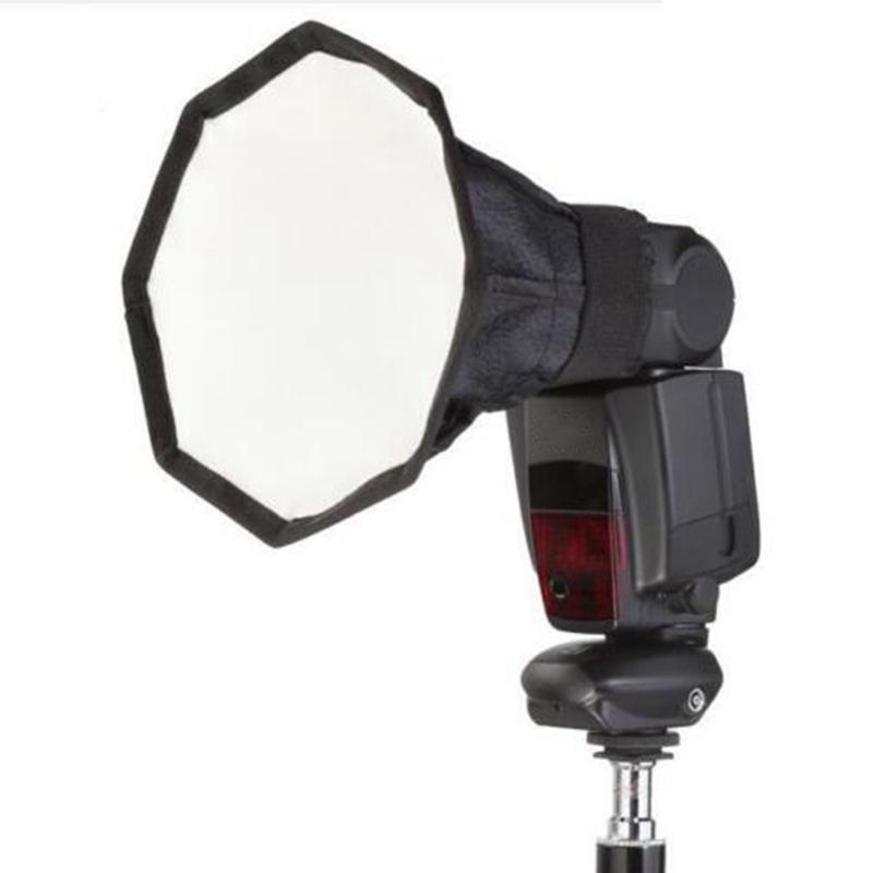 Universale SLR Fotocamera Top Flash Diffusore Ottagonale Copertina della fotocamera Ottagonale Softbox 30cm Portable Speedlite Photo Studio Studio softbox per YONGNUO