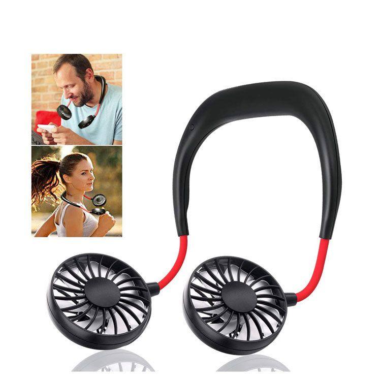 Спорт на открытом воздух Управление шея Вентилятор Мини USB портативный вентилятор рука свободных шеи висят перезаряжаемый кондиционер воздуха для дома