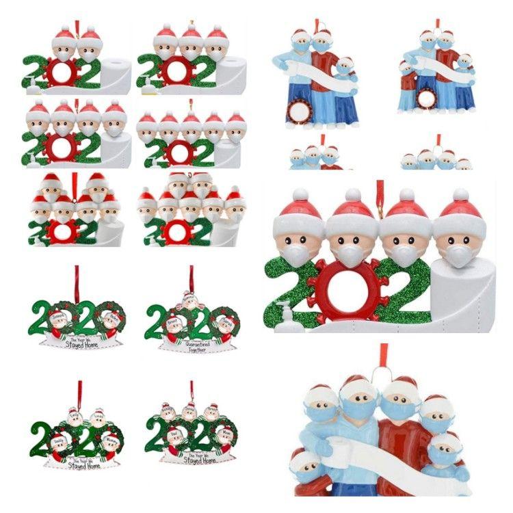 2020 Xmas Natale ornamenti d'attaccatura di famiglia fai da te Nome dell'albero Decor 2 3 4 5 6 7 Survivor Famiglia T2I51517