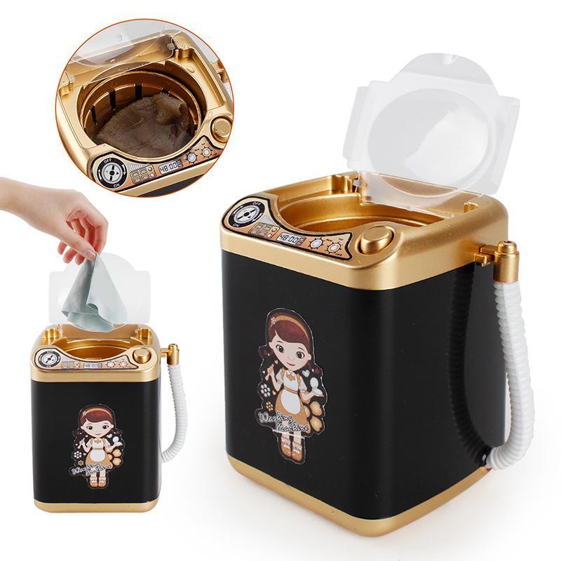 Multifuncional ouro Blender Máquina de lavar roupa crianças máquina de lavar de brinquedo de beleza Escovas esponja de maquiagem Escova de limpeza elétrica Arruela