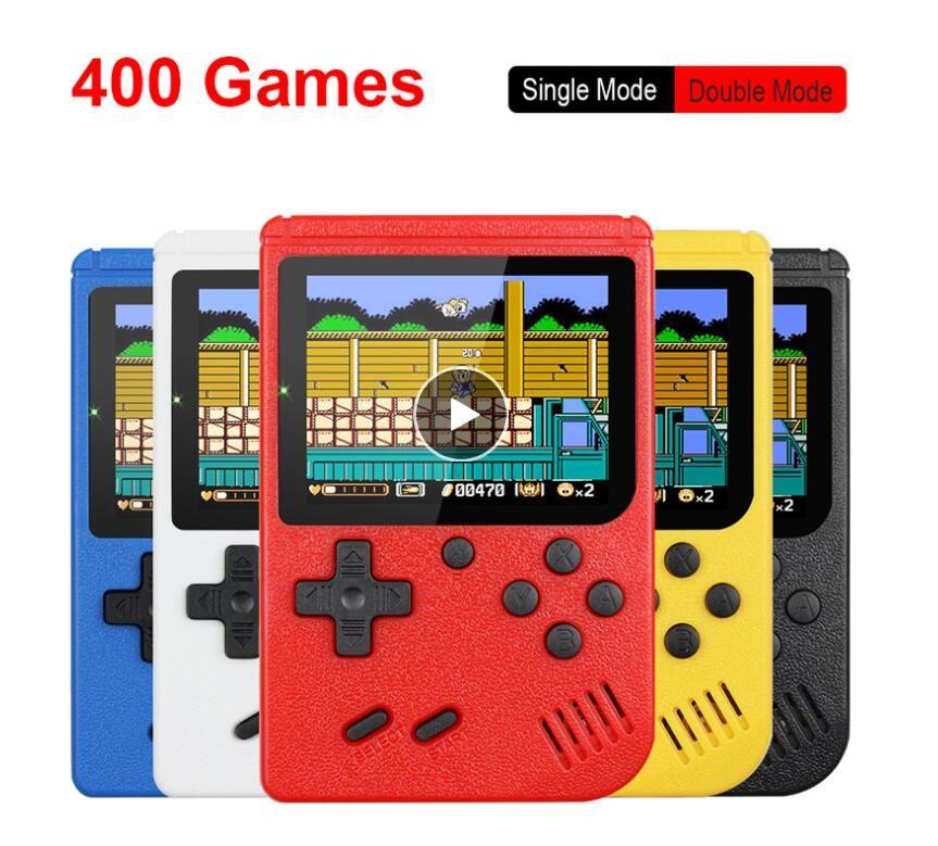 Retro Mini Handheld Portable Game Console 8-Bit 3,0 pouces couleur LCD couleur Enfants Game Player contient 400 jeux