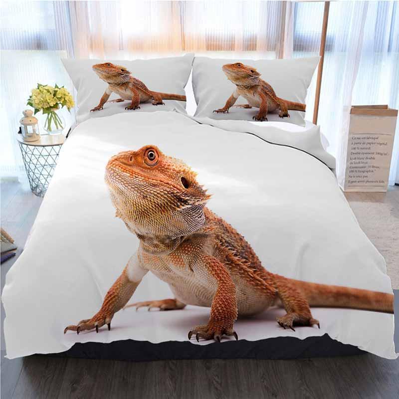 Dragão cama 3 peças capa de edredão Sets, Dragão farpado, Casa Luxo macia edredon Consolador Tampa