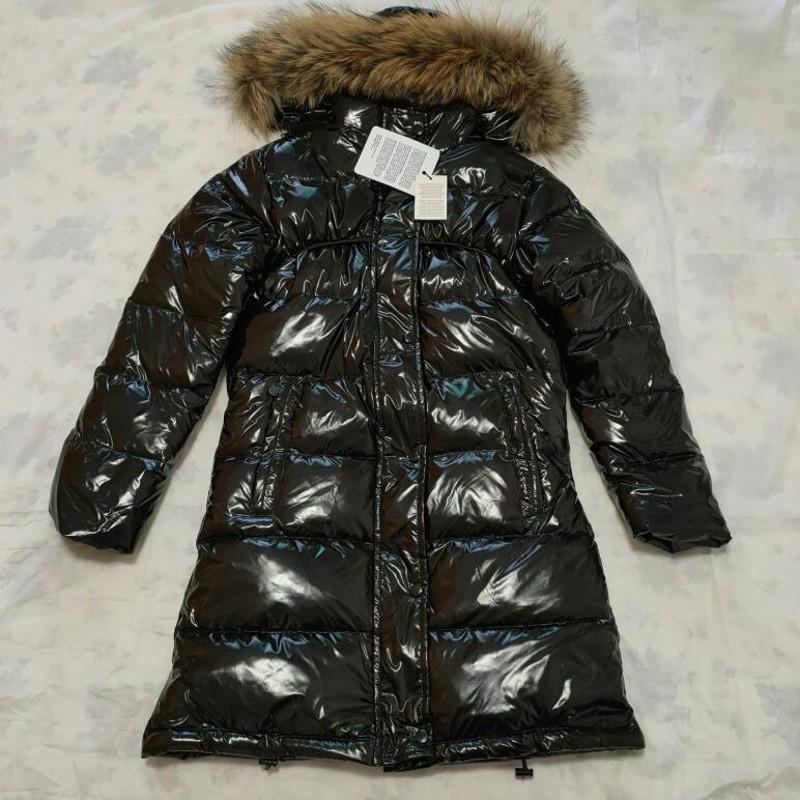 chaqueta de invierno larga de las mujeres por la chaqueta desmontable collar de piel de mapache Abrigo de invierno abrigo abajo cubre delgado Parkas Chaquetas de abrigos de invierno