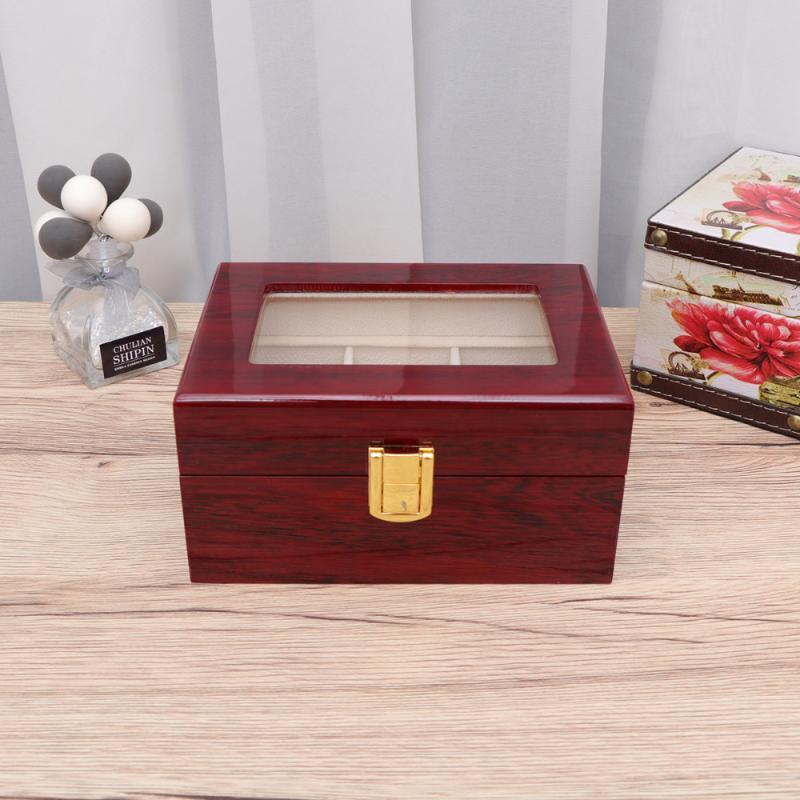 Практические часы чехол для хранения ювелирных изделий хранения Организатор Портативный часы Дисплей Box Jewelry Box для дома магазин (2 Grid)