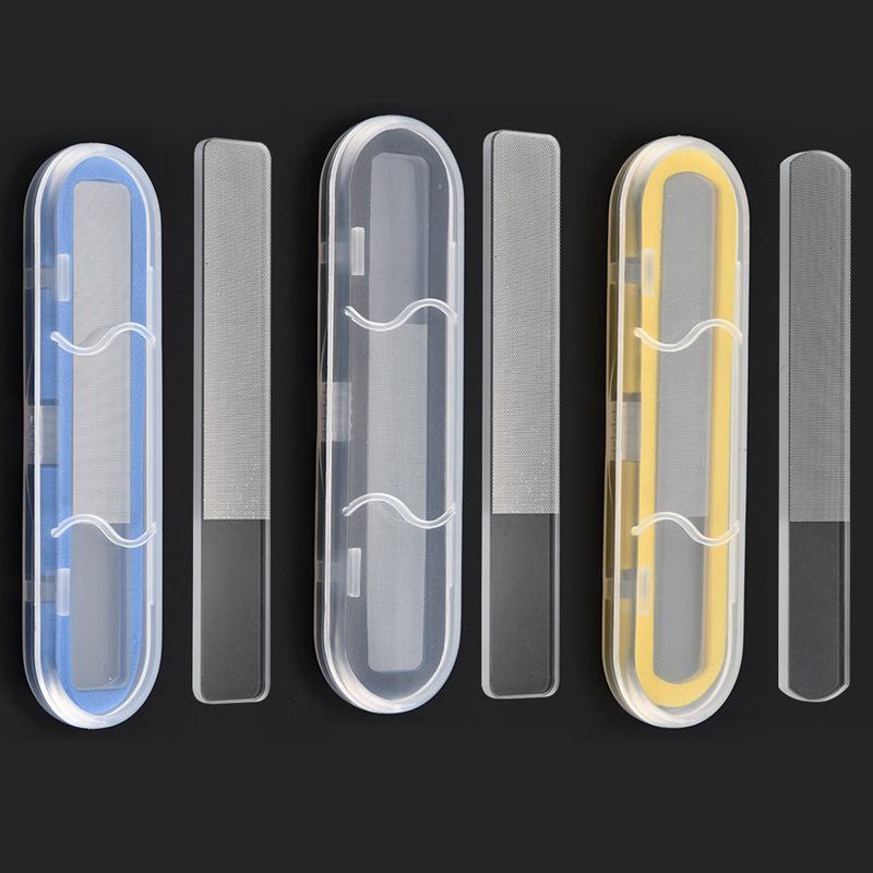 3in1 pro nano glas nagelfil buffert slitstark shiner transparent slipande polering slipning nail art 14cm kristall glas 2way manikyr