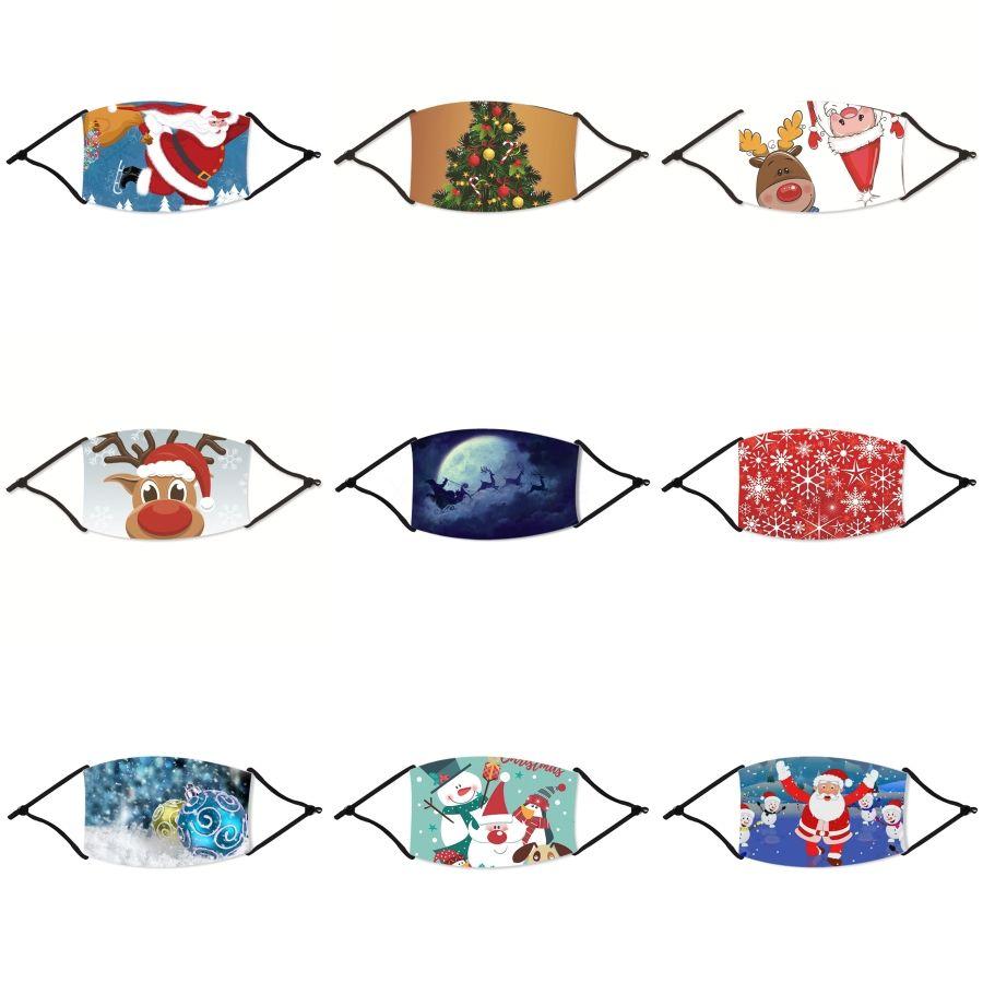 2020 di disegno del fronte di Natale Maschera anti-polvere Earloop con la respirazione maschere valvola regolabile riutilizzabile Bocca Natale morbido e traspirante Anti Dus # 758