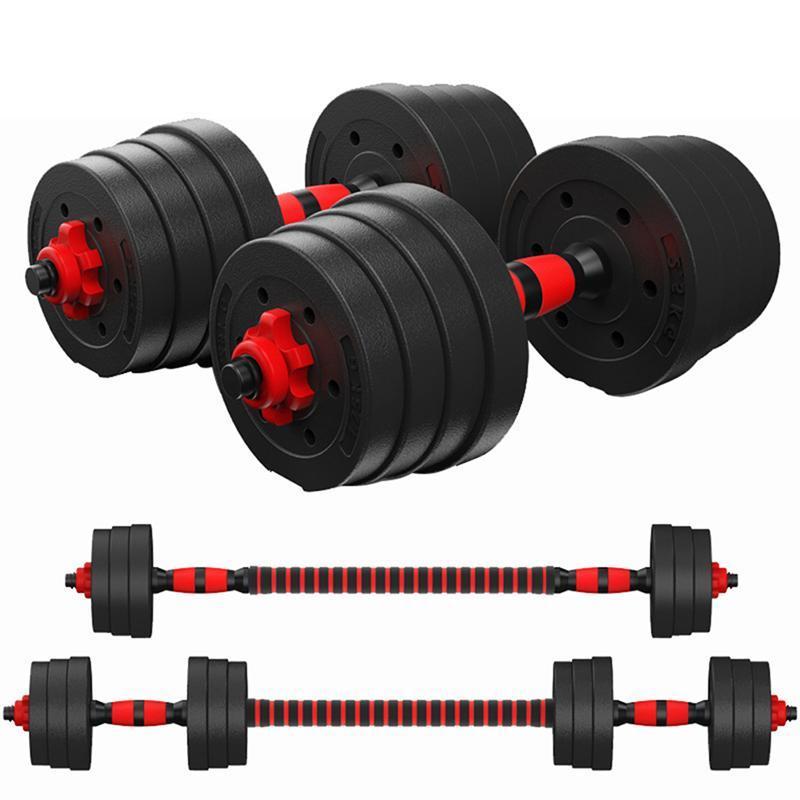 العضلات 1SET PE الوزن الدمبل مجموعة للياقة البدنية الدمبل انفصال الدمبل الذراع تجريب المدرب المنزلية تمرين للجسم (10KG)