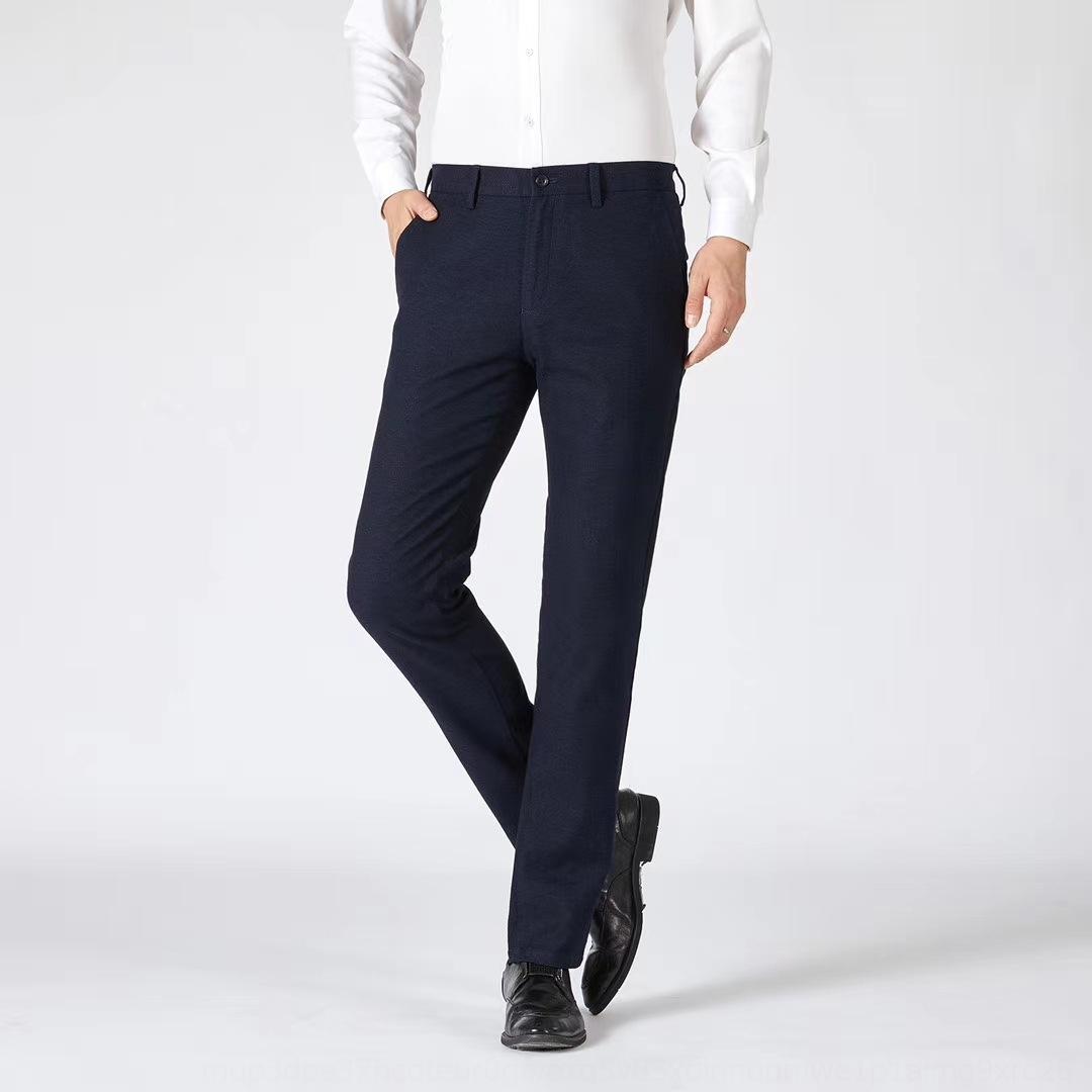 Herbst und Winter Schleifen Business-Mode städtischen bequeme Kleidung der Männer Sonderpreis geraden Rohr Hosen beiläufige Hosen einfach bre