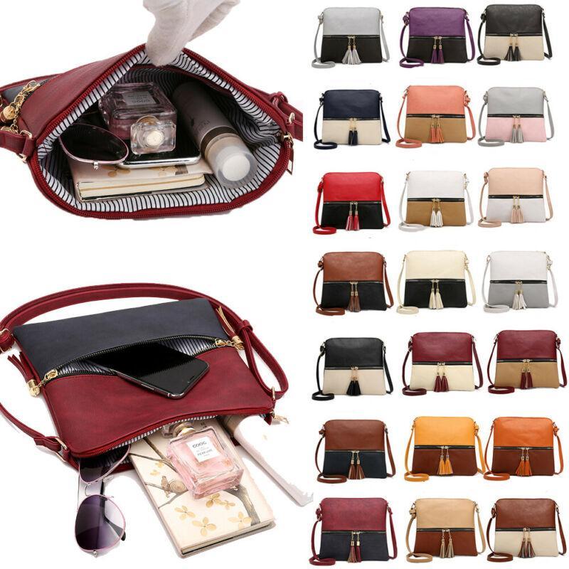 NoEnName-Null Mulheres Handbag de couro Shoulder Lady Bag Corpo Cruz Bolsa Mensageiro Satchel bolsa