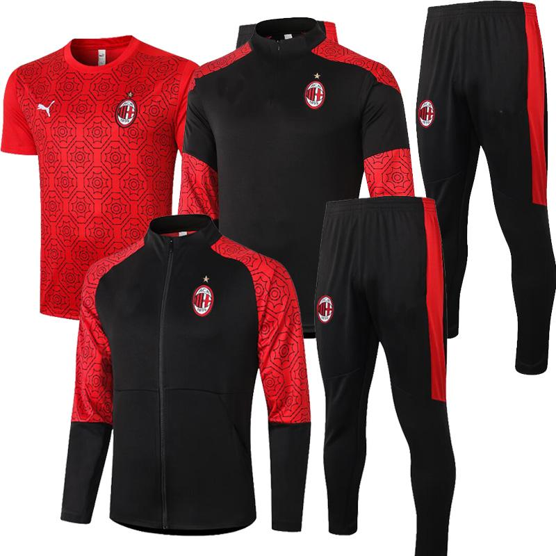 KAKA MILAN IBRAHIMOVIC Jackets Tracksuit 2020 21 THEO MUSACCHIO Soccer jogging ROMAGNOLI Training suit CALHANOGLU football Survetement
