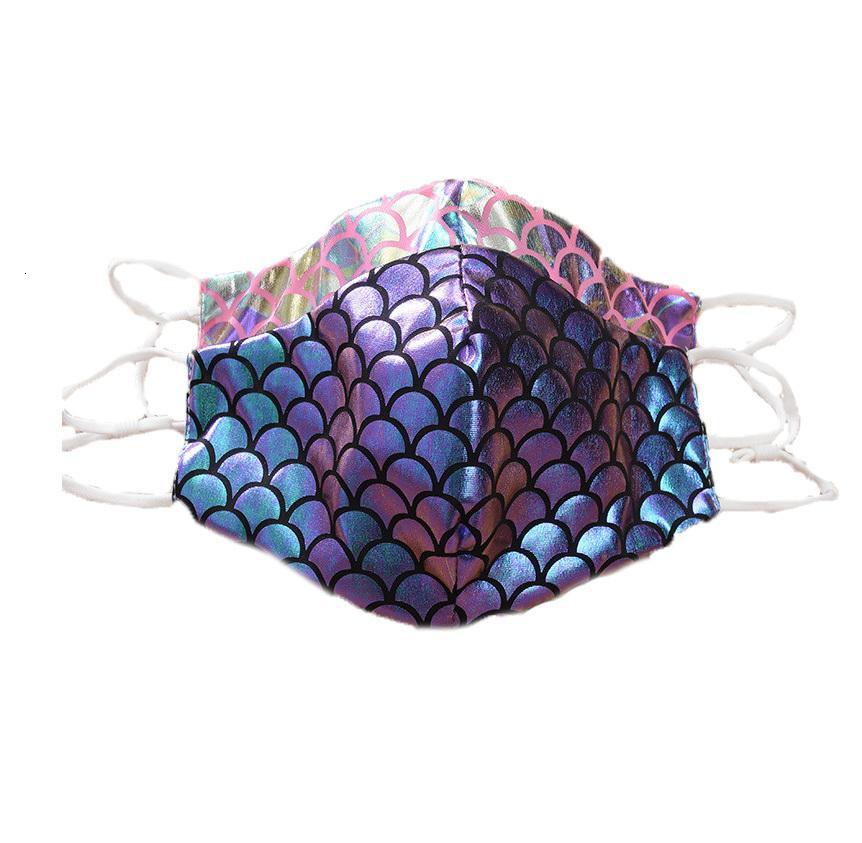 Máscaras de diseño de moda de la mascarilla del polvo respirable pescado Escala de impresión de protección para el adulto Envío libre de DHL Bwc681