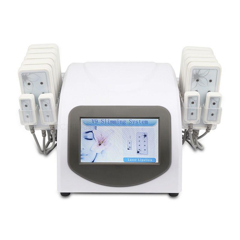 Липо лазера для похудения Lipolaser машина Диод холодной лазерной терапии Низкий уровень лазер для снижения веса жира Снижение липолиз оборудование 14 Весла