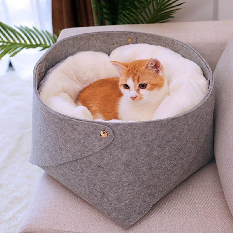 Cat Basket Pet Dog Bed для Cat Warm Bed Собаки Дома для кошек Домашние животные продукты Дом Puppy Soft Удобный дом небольшой