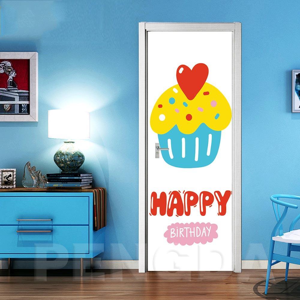 Arte de la lona impresión de la etiqueta de la puerta del vector carta carácter de bricolaje decoración mural foto impermeable autoadhesiva nueva habitación decoración de la casa