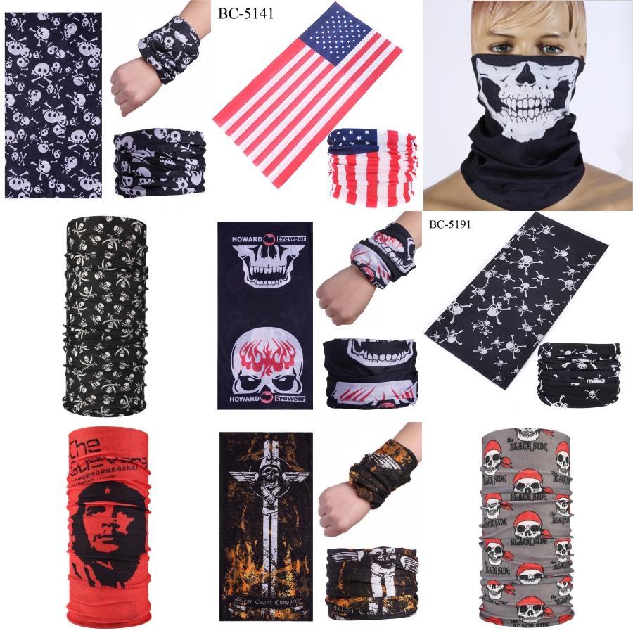 Nuovo cotone all'ingrosso pirata Halloween Skull Bandana maschera di protezione del costume della fascia Sciarpa Wristband Sciarpe Nq674106 MEDC ## 375