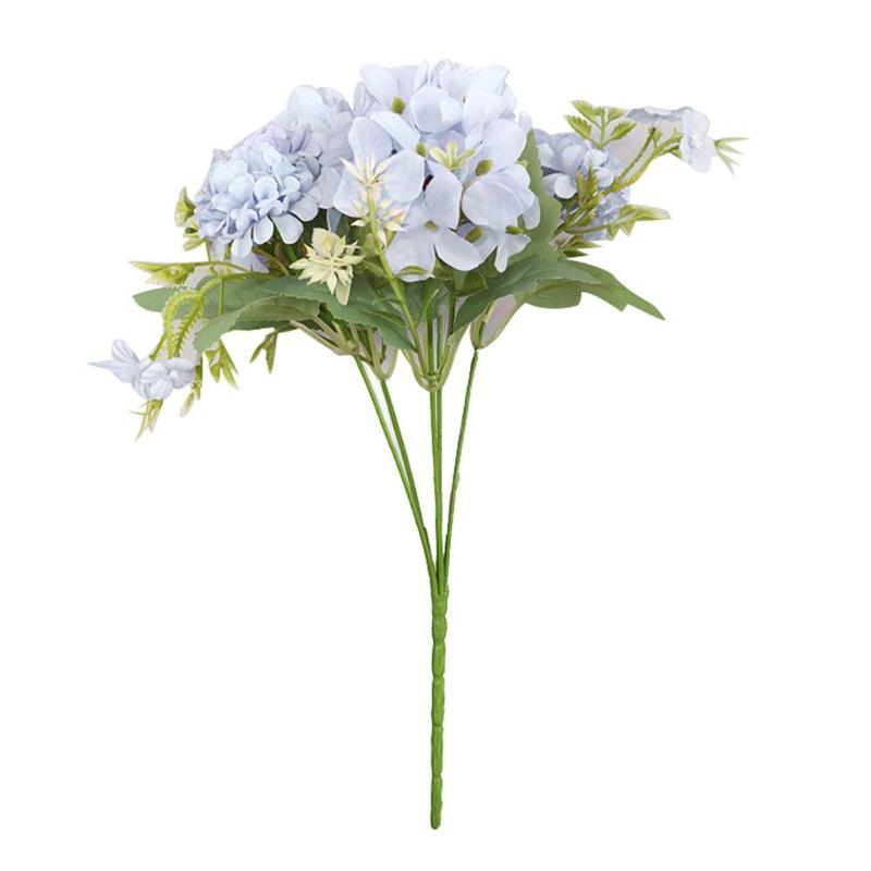 2 Falso Bouquet di fiori artificiali Home Shop Cafe banchetto di nozze del partito della decorazione Fiori Artificiali