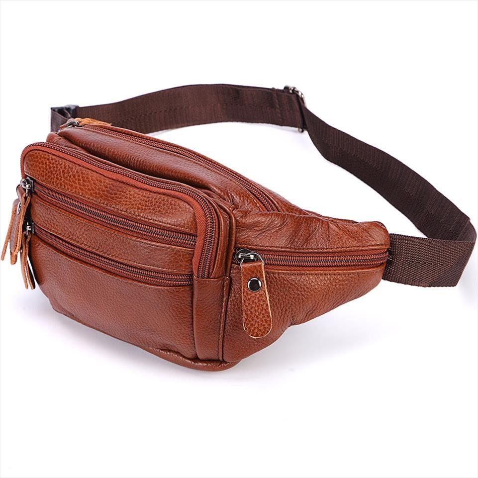 Moda mensageiro sacos genuíno pacote fanny couro bolsa de couro bolsa de couro homens marca saco fanny para homem de viagem masculino saco homens bnpfk