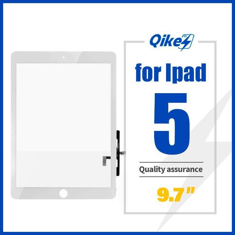 iPad 5 pantalla táctil A1395 A1396 táctil digitalizador de vidrio sensor del panel de la pantalla táctil FrameOuter reemplazo de cristal del panel frontal