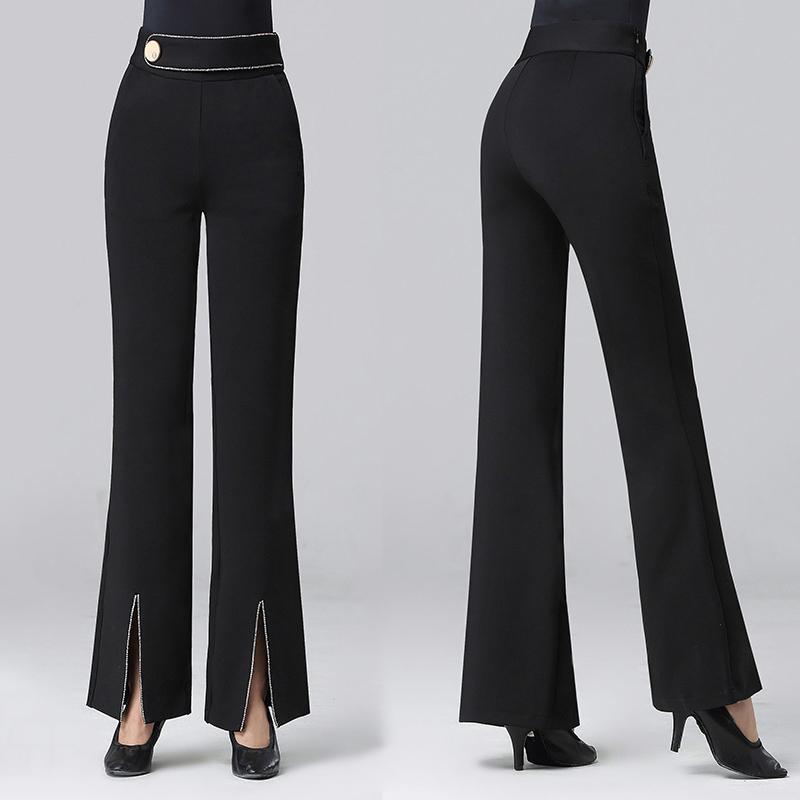 2020 New Professional Modern Ballroom Salsa Tango Rumba Samba Cha Cha Latin Dance Pants Black Dance Trousers For women