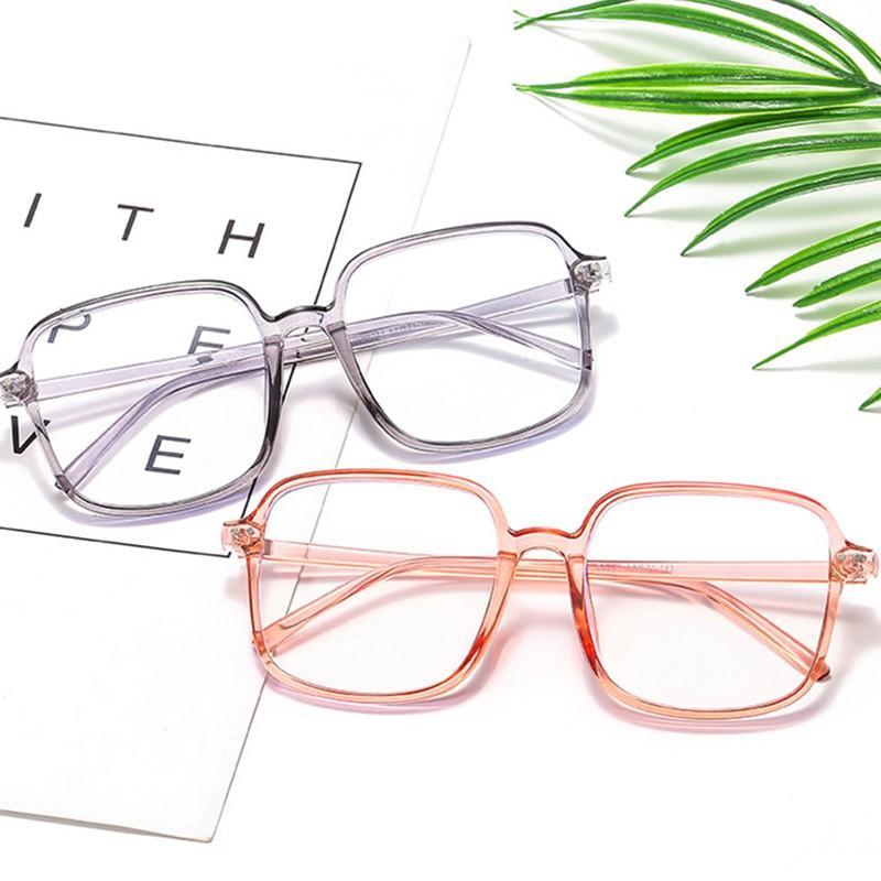 Lucha contra el rayo azul GlassesComputer Gafas Gafas de juego Marco grande Gafas Anteojos transparente para las mujeres