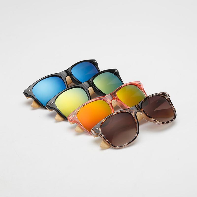 Sommer-Mode Bambus Sonnenbrille, hochwertige Sonnenbrille der Frauen außerhalb Gläser Sun-Glas-Farbton Lunette oculo zu verhindern