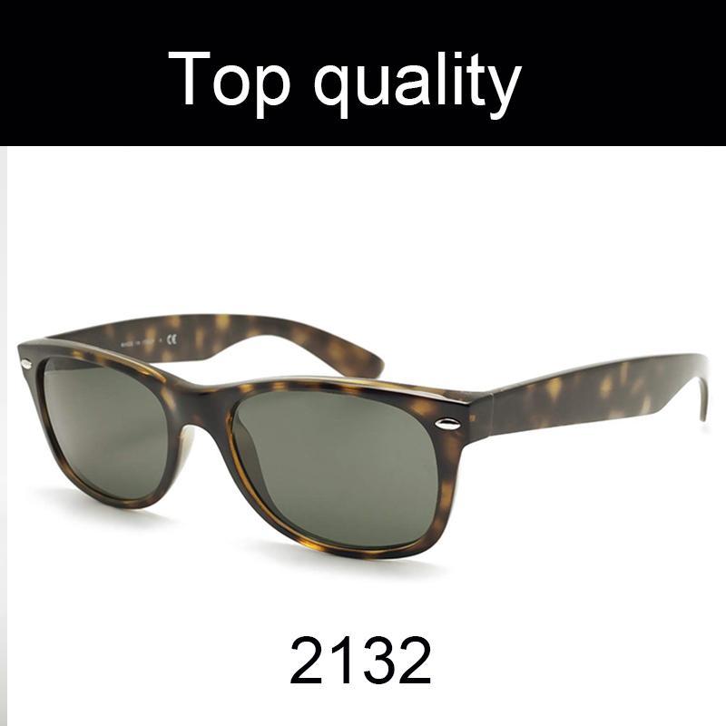 أعلى جودة نظارات الرجال النساء نظارات الشمس ريال النايلون إطار المواد مع عدسات الزجاج 2132-55mm الذكور النظارات الشمسية