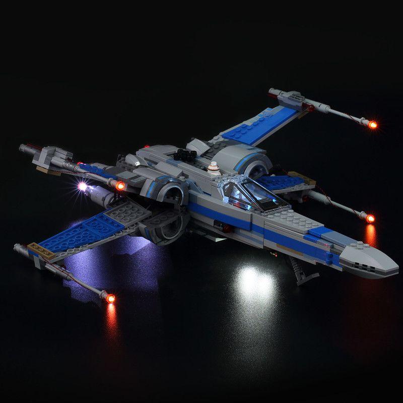 Kit LED Kyglaring (Solo luce) per 75102/75149 Compatibile con 05029 05004 Blocchi da combattimento X-ala X