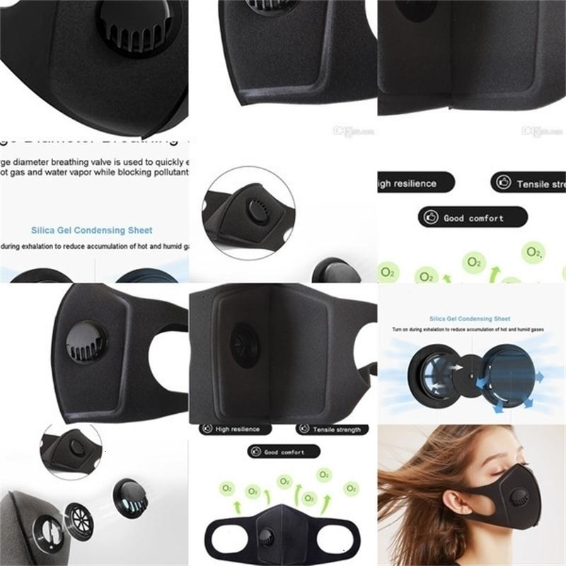 Alta válvula con el uso de mascarillas Esponja Moda reutilizable lavable Mascarilla Anti polución y un X9yx Id0u XY1Z