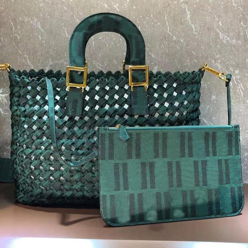 Sac à main sacs fourre-tout Sac à bandoulière Mode classique pleine Lettre Weave Crochet évider Patchwork couleur de haute qualité Livraison gratuite