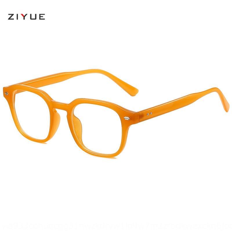 qB3CS 2020 yeni çokgen gözlük camları çerçeve kadın jöle renk tırnak gözlük çerçevesi erkek kişilik moda internet düz cam kırmızı