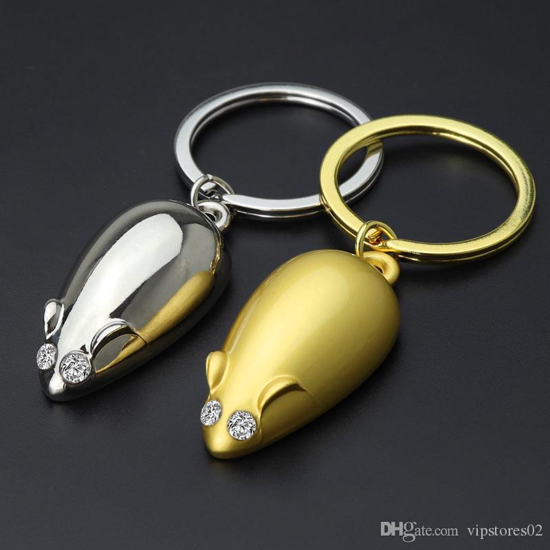 INS Fashion Jewelry Big Ratte Maus Keychain zwölf Tierkreiszeichen Ratte Kleine Geschenke des neuen Jahres Promotion Geschenke Individuelle Logo Keychain