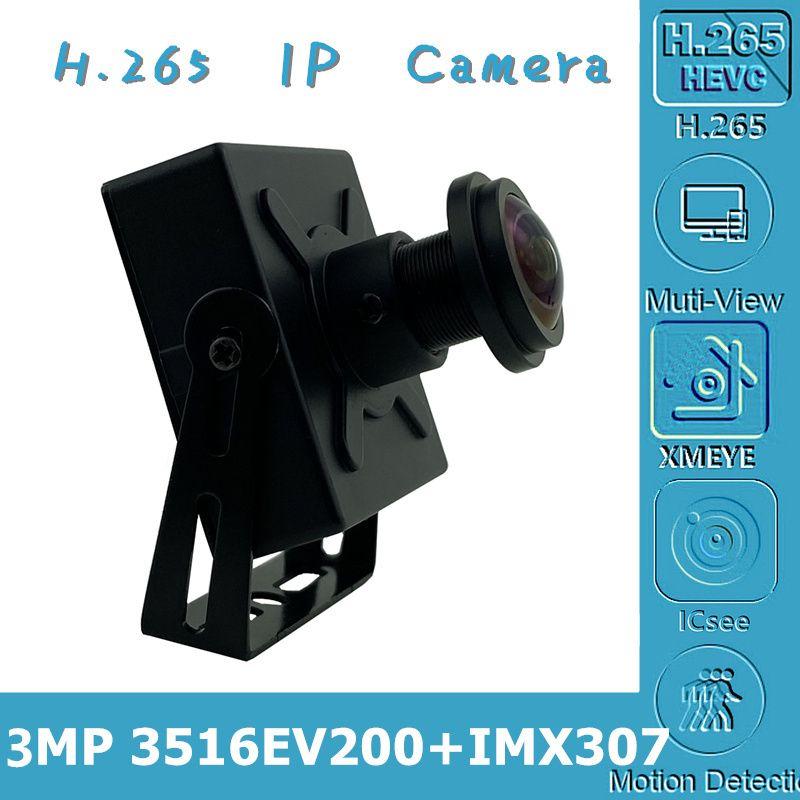 Sony IMX307+3516EV200 IP Mini Metal Box Camera 3MP Low illumination Panorama FishEye 2.8-12mm All Color H.265 ONVIF CMS XMEYE