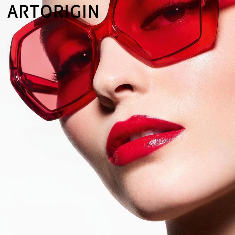 Sonnenbrille Frauen Sonnenbrille Vintage Retro Oculos Designer Spiegel Weibliche Luxus Gläser Für Frauen Rahmen Polygon Schild Sun Marke Edlii