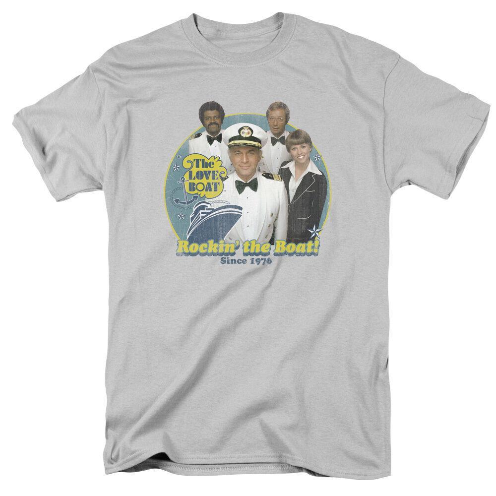 The Love Boat TV Show Rockin' LA BARCA Dal 1976 T-shirt di cotone ogni dimensione superiore parti superiori del T Shirt