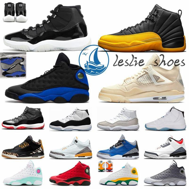 Scarpe da basket Mens Trainers 5s alternativo GrapeNakeskinGiordaniaRetro 4s Light12s Università 11s 13s 1s oro scuro Flint Aurora