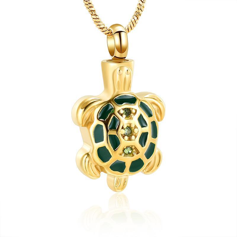 Küller Keepsaker Tutucu Memorial Takı için külleri Kaplumbağa kremasyonu Urn kolye kolye ölü yakma kolye One Sevilen